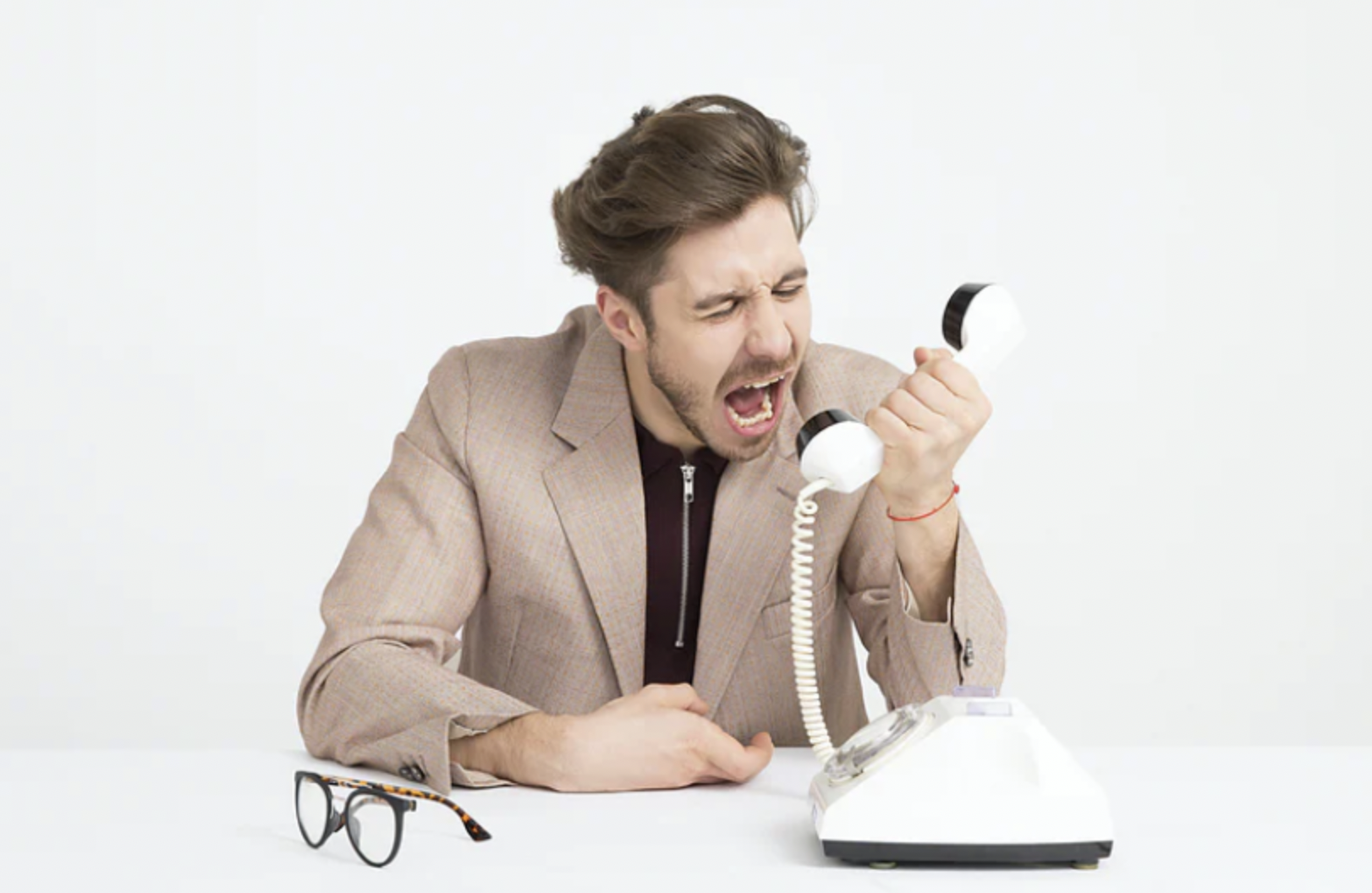Frustrated customer service call transfer mistakes